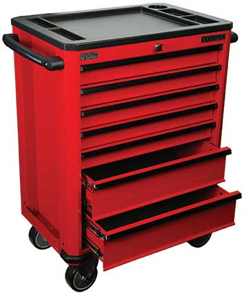 A22112R - 7 Drawer Roller Cabinet by KC Tools
