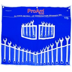 24pc Metric & AF Combination Spanner Set